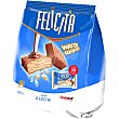 wafers sabor chocolate paquete 250 g Korovka