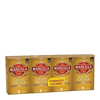 Marcilla Café molido natural pack de 4x250 g