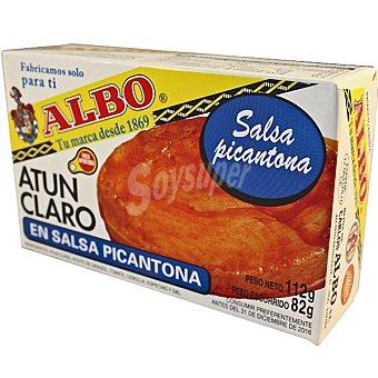 Albo Atún claro en salsa picantona Lata 82 g neto escurrido
