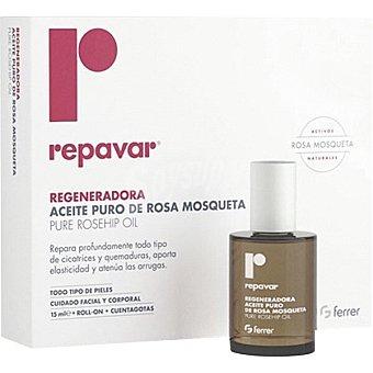 Repavar Regeneradora aceite puro de rosa de mosqueta roll-on + cuentagotas 15 ml