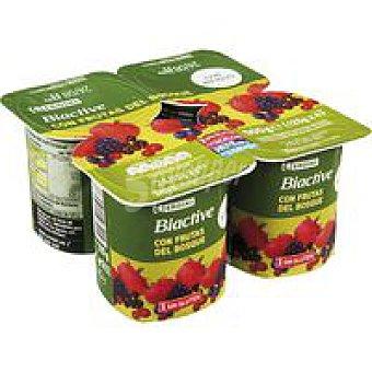 Eroski Biactive con frutas del bosque Pack 4x125 g