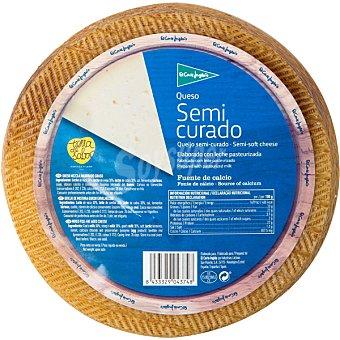 El Corte Inglés queso castellano semicurado elaborado con leche cruda peso aproximado pieza 3 kg