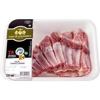 CASA GANADEROS Cordero Ternasco de Aragón falda peso aproximado bandeja 500 g Bandeja 500 g