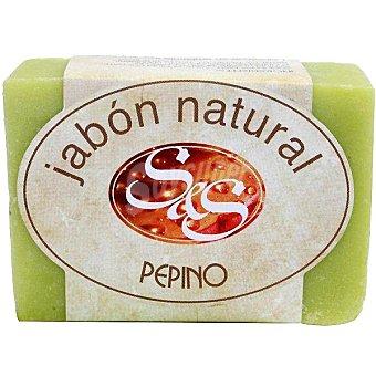 S&S Pastilla de jabón natural de Pepino Pastilla 100 g