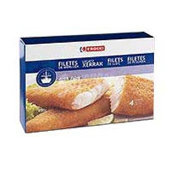 Eroski Filete de merluza empanado Caja 400 g