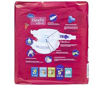 Auchan Pañal talla 5 para bebés entre 12-18 kilogramos flexifit 25 unidades