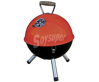 GARDEN MAX Barbacoa redonda de carbón modelo baya, sobre mesa de 32 centímetros, con parrilla de acero cromado, cuba de acero esmaltado y ganchos de bloqueo. Ideal para 4 personas 1 Unidad