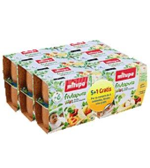Milupa Tarritos frutas variadas manzana y plátano Pack de 6x400 g