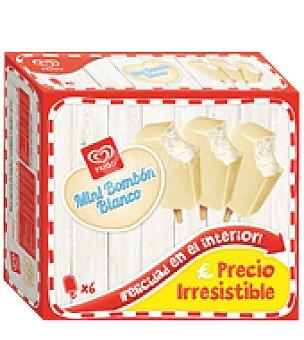Frigo Helados Mini Bombón Blanco 6 ud