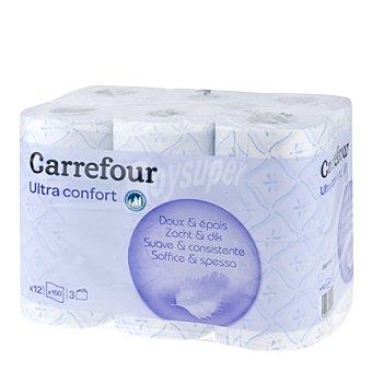 Carrefour Papel higiénico 3 capas 12 rollos