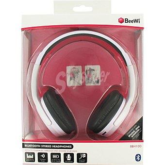 BEEWI Auriculares de diadema con Bluetooth en color Blanco 1 Unidad
