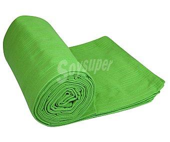 Auchan Colcha 100% algodón color verde liso para cama doble, de 135 a 150 centímetros, 240x250 centímetros 1 unidad