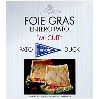 Hipercor Foie gras entero mi cuit de pato envase 80 g Envase 80 g