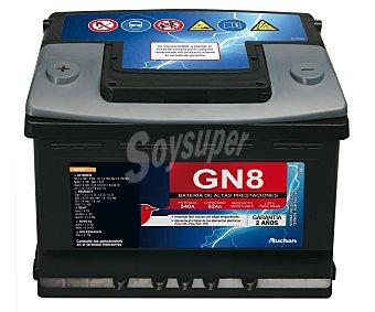 Genium Batería de automóvil de 12v y 62 Ah, GN8, con potencia de arranque de 540 Amperios con potencia de arranque de 540 Amperios