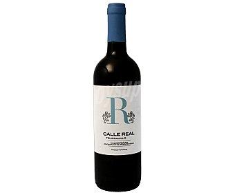 Valdepeñas Vino tinto con denominación de origen calle real Botella de 75 cl