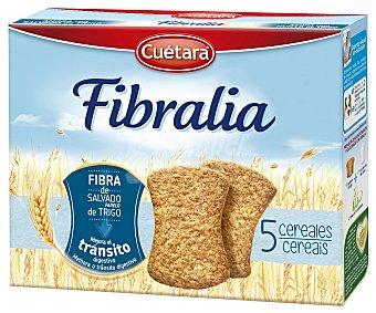 Cuétara Galletas 5 cereales con fibra de salvado de trigo Fibralia Caja 500 g
