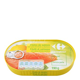 Carrefour Filete salmón con limón 125 g