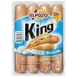 King salchichas con queso mozarella Envase 330 g ElPozo