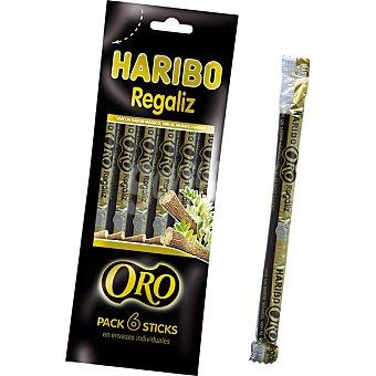 Haribo Regaliz negro sticks en envases individuales bolsa 108 g Pack 6