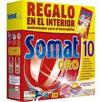 Somat Lavavajillas Máquina Oro 18 dosis + Regalo