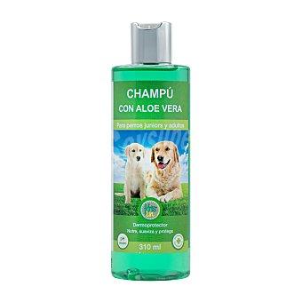 Krislin Champu perro junior y adulto con aloe vera dermoprotector (nutre,suaviza y protege) Botella 310 cc