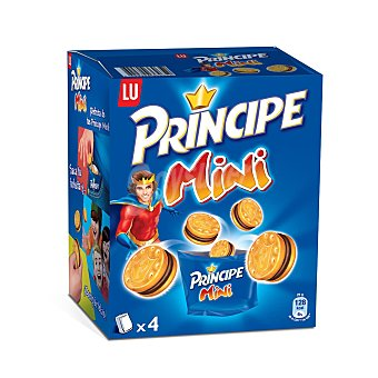Principe de Lu Galletas Rellenas de Chocolate Mini Pack de 4x40g