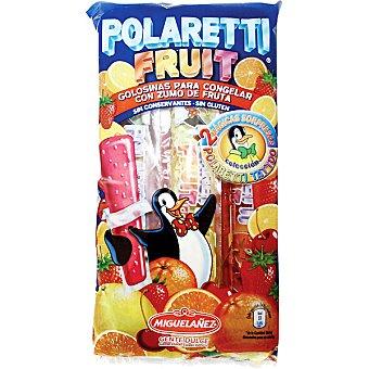 Polaretti Golosinas para congelar con zumo de frutas sin conservantes Bolsa 400 ml