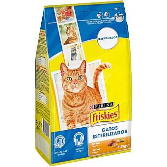 Purina Friskies Pienso para gatos esterilizados a base de pavo y verduras 1,5 kg
