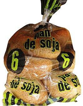 MERCADONA Pan mini soja Paquete de 6 unidades (420 g)