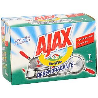 Ajax Estropajo brillo jabonoso desengrasante Envase 7 unidades