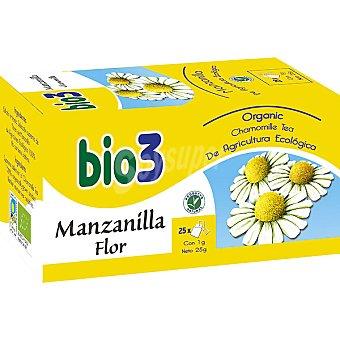 BIO3 Manzanilla flor acción digestiva ecológica envase 25 sobres