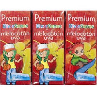 Premium Zumo de melocotón-uva Pack 6x20 cl