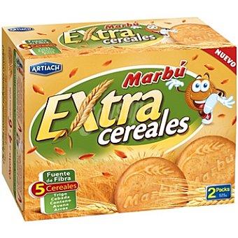 Marbu Artiach Cereales galletas con trigo cebada centeno avena y arroz Estuche 525 g