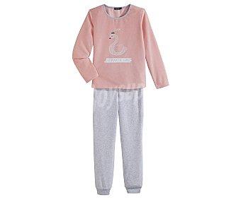 In Extenso Pijama largo de niña de terciopelo talla 8.