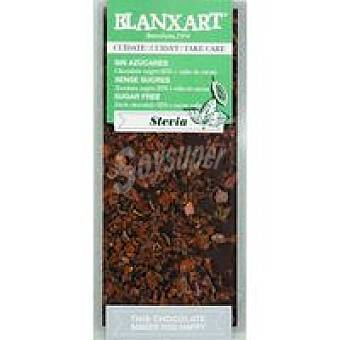 BLANXART Chocolate negro 85% sin azúcar stevia & pepitas cacao 100g
