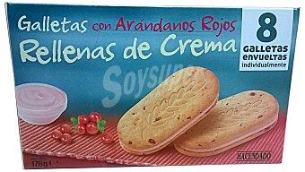 HACENDADO Galleta con arándanos rojos rellena de crema Paquete de 176 g