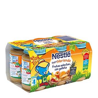 Nestlé Tarrito de frutas selectas con galleta 6 unidades de 200 g