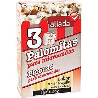 Aliada Palomitas sabor a mantequilla para microondas Pack 3 bolsas 100 g