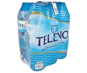 Teleno Agua Mineral Pack 6 Unidades de 1,5 Litros