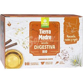 Intermón Oxfam Infusión digestiva ecológica con manzanilla rooibos y regaliz caja 20 bolsitas de comercio justo