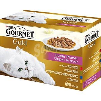 Gourmet Purina Comida para gatos Doble Placer Pack 12x85 gr