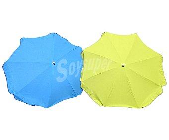 ANJOSA Parasol de 8 varillas fijo y de aluminio, con protección anti-uv, UPF+40 1 unidad