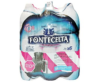 Fontecelta Agua Mineral Pack 6 Unidades de 1,5 Litros