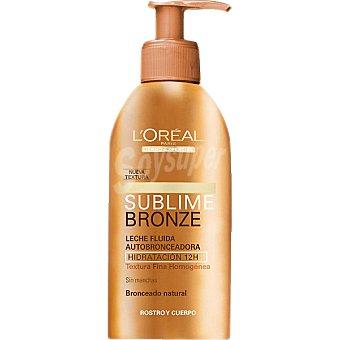 Dermo Expertise L'Oréal Paris Leche fluida autobronceadora Sublime Bronze facial y corporal hidratación 12h dosificador 150 ml