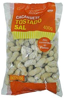Hacendado Cacahuete cascara sal Paquete 400 g