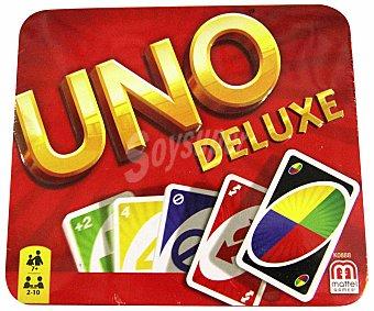 MATTEL Games - UNO Deluxe, juego de cartas en caja (K0888)