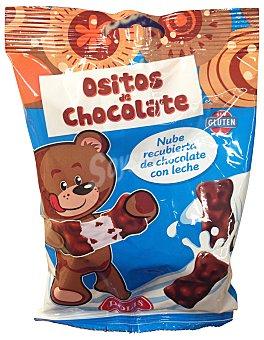 DOLIS Golosinas nube osito cubierto chocolate con leche Paquete 100 g