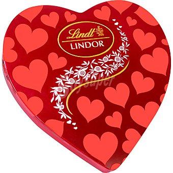 Lindt Lindor bombones de chocolate en caja de corazón Envase 250 g