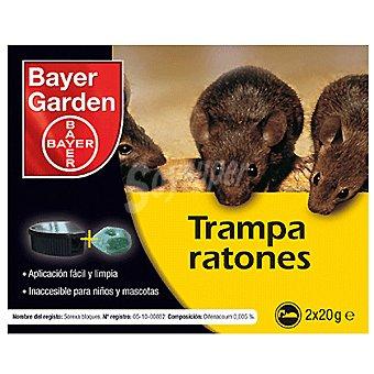 BAYER GARDEN Trampa para ratones inacesible para niños y mascotas envase 2 x 20 g 2 x 20 g