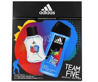 Adidas Estuche para hombre con colonia de 50 mililitros más gel de ducha de 250 mililitros 1 unidad